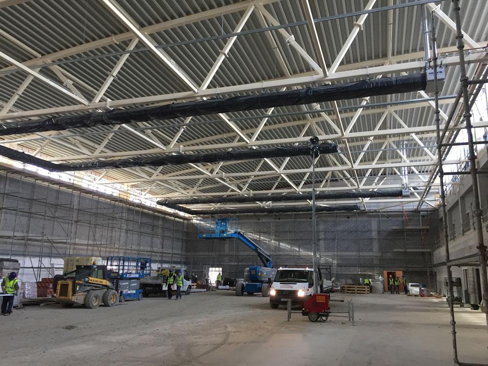 ITT Sports Academy Tralee Steel Construction