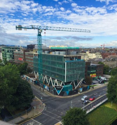 Aerial shot of Google Cloud Building, Velasco Dublin